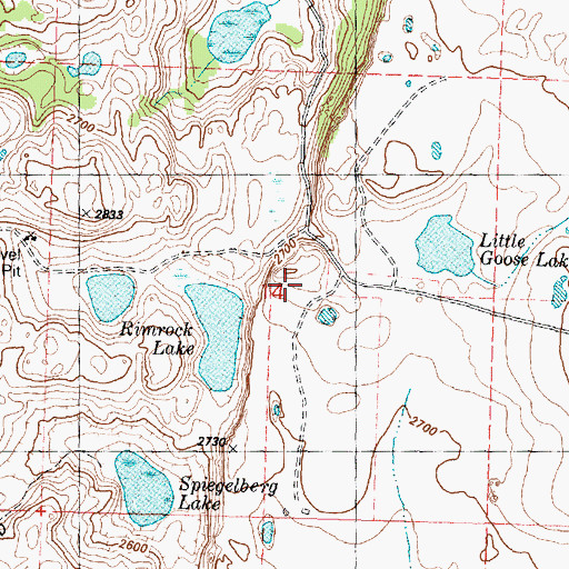 Topographic Map of Okanogan County Fire District 8 Kramer Unit, WA