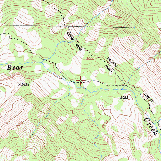 Topographic Map of Kip Camp, CA