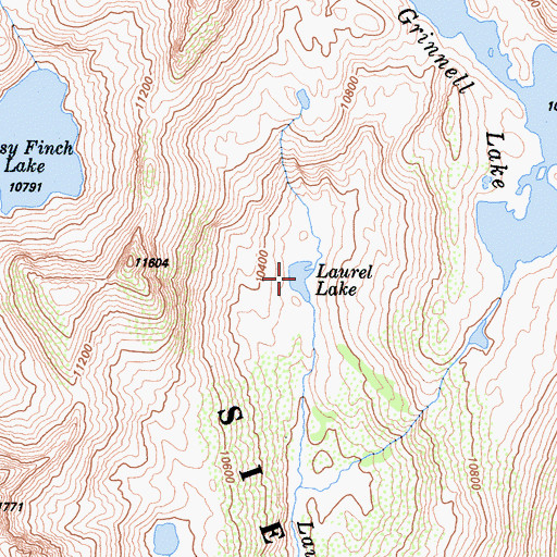 Topographic Map of Laurel Lake, CA