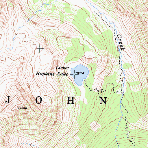 Topographic Map of Lower Hopkins Lake, CA
