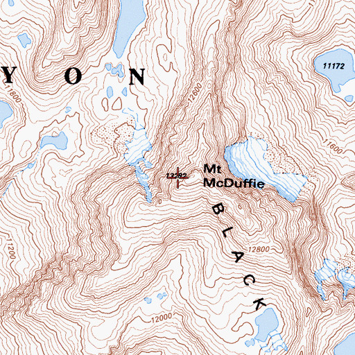 Topographic Map of Mount McDuffie, CA