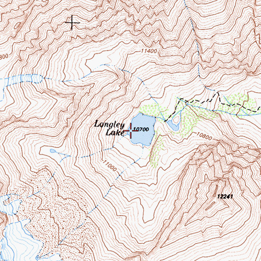 Topographic Map of Longley Lake, CA