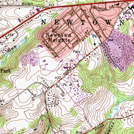 Topographic Map of Northern Research Station, PA