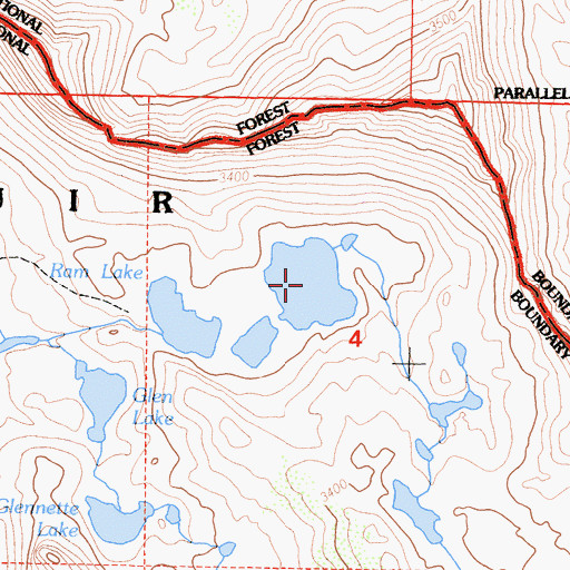 Topographic Map of Ram Lake, CA