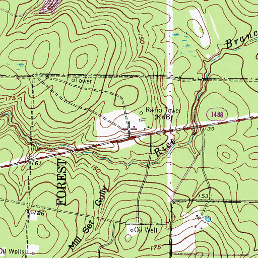 Topographic Map of Texas Forest Service Conroe Office, TX
