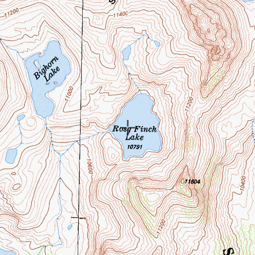 Topographic Map of Ross Finch Lake, CA
