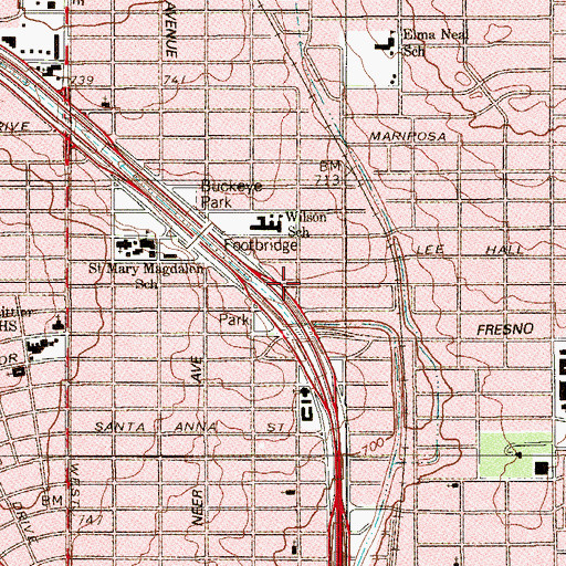 Topographic Map of American Metropolitan Ambulance Company, TX