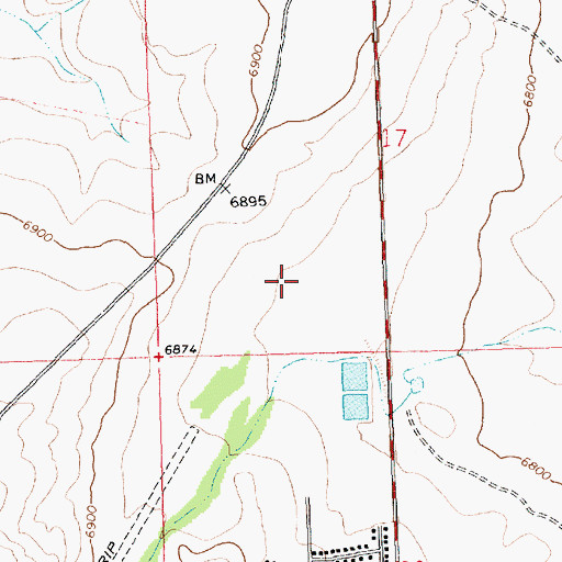Topographic Map of Navajo Nation Emergency Medical Services, NM