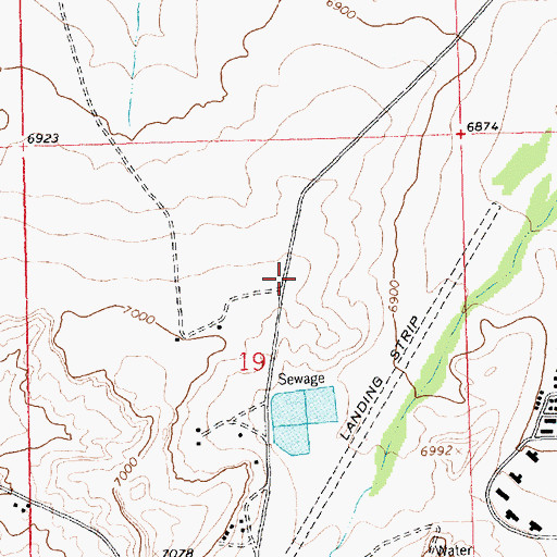 Topographic Map of Crownpoint Volunteer Fire and Rescue, NM