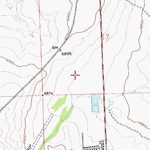 Topographic Map of Pueblo Pintado City Ambulance Service, NM