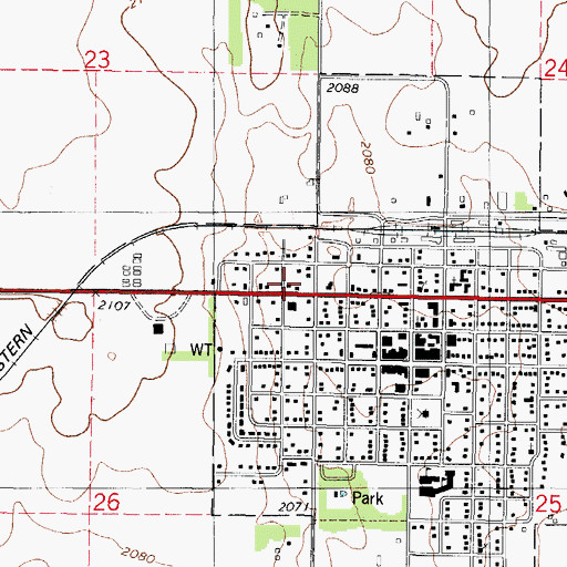 Gettysburg Topographic Map.Gettysburg Ambulance Service Sd