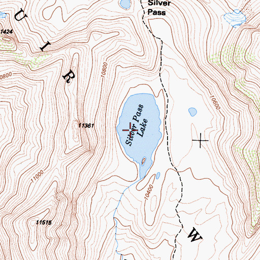 Topographic Map of Silver Pass Lake, CA