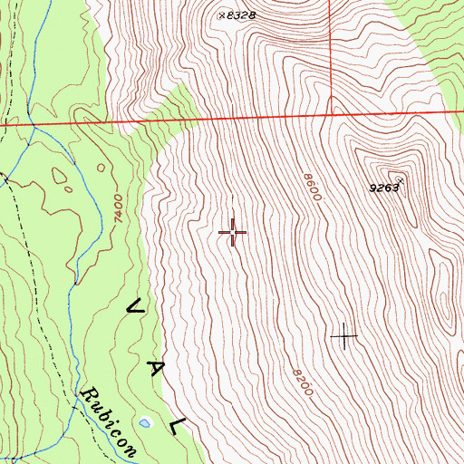 Topographic Map of Desolation Wilderness, CA