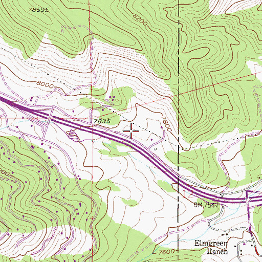 Topographic Map of Clear Creek Fire Authority Fire Station 6 Floyd Hill, CO