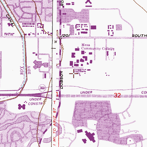 Printable Map of Southern and Dobson MCC Campus (page 2 ...
