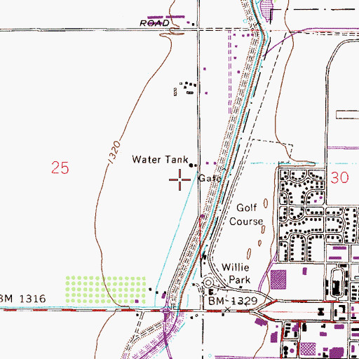 Topographic Map of Gilbert Hospital, AZ