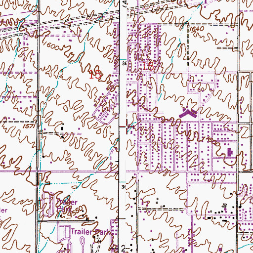 Topographic Map of Calvary Free Lutheran Church, AZ
