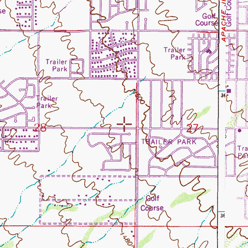 Topographic Map of East Mesa Baptist Church, AZ