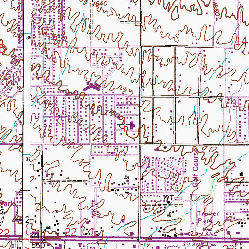 Topographic Map of The Church of Jesus Christ of Latter Day Saints, AZ