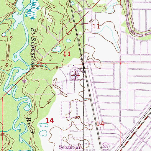 Topographic Map of Willow Waters, FL