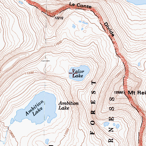 Topographic Map of Valor Lake, CA
