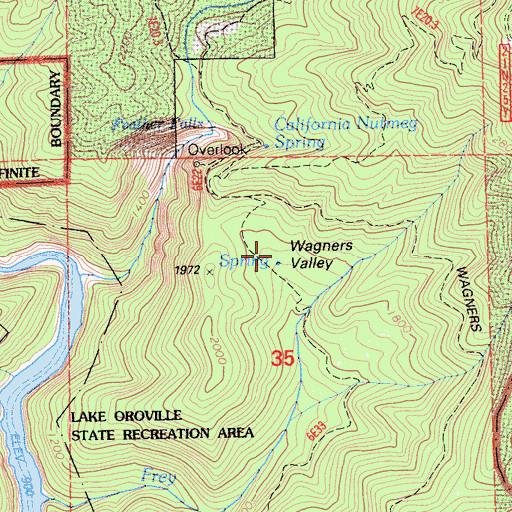 Topographic Map of Wagners Valley, CA