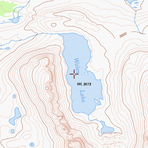 Topographic Map of Wales Lake, CA