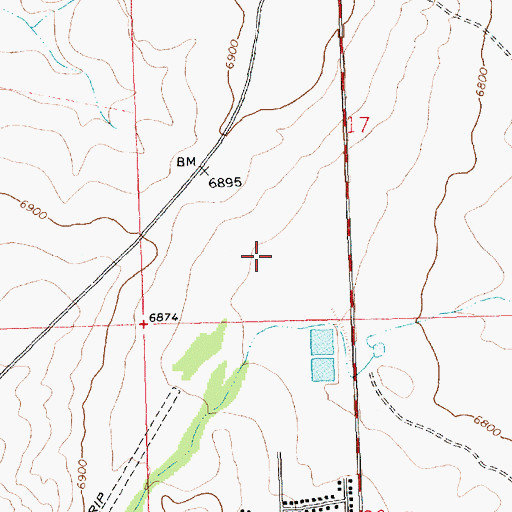 Topographic Map of Crownpoint Service Unit Indian Health Service Hospital, NM