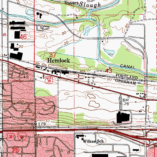 Topographic Map of Zimmerman House, OR