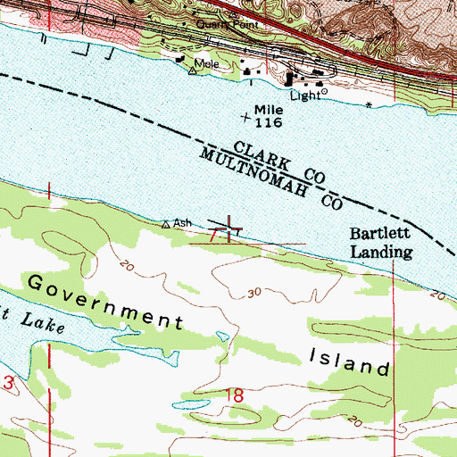 Topographic Map of Bartlett Landing, OR