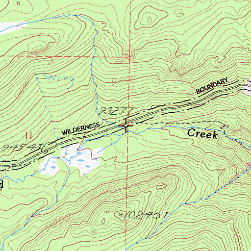 Topographic Map of Cottonwood Sawmill, CA