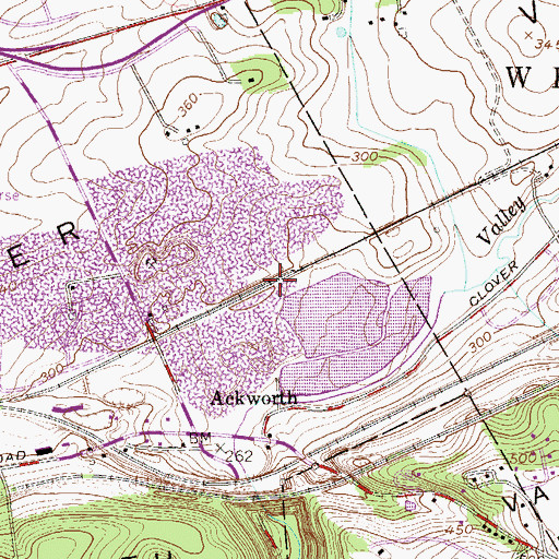 Topographic Map of Downingtown Quarry, PA