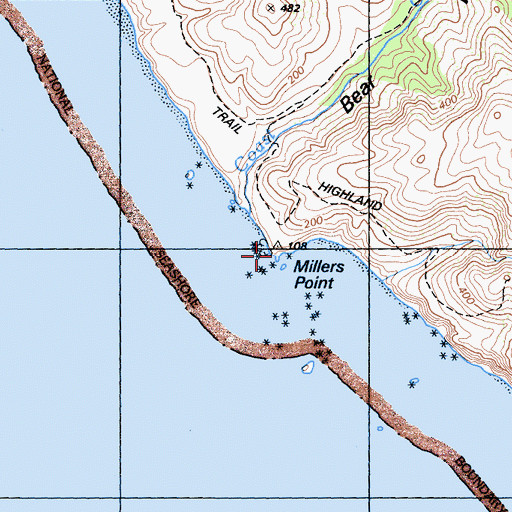 Topographic Map of Keyhole, CA