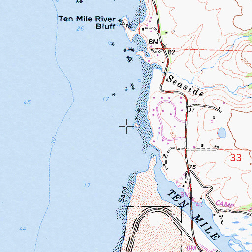 Topographic Map of Whale Rock Arch, CA