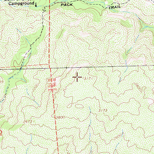 Topographic Map of Garcia Mountain, CA