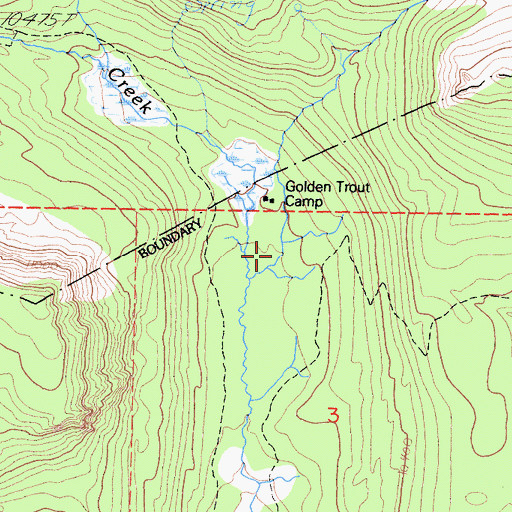 Topographic Map of Golden Trout Camp, CA