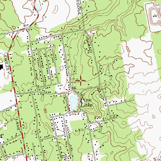 Topographic Map of Crest Hall Care Center, NY