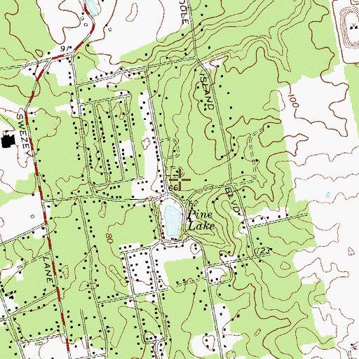 Topographic Map of Oak Hollow Nursing Center, NY