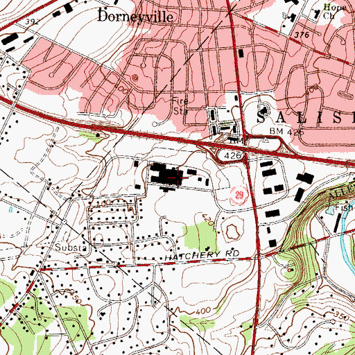 Topographic Map of Lehigh Valley Hospital, PA