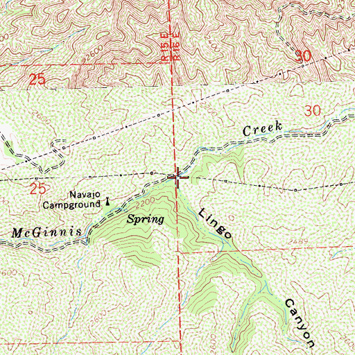 Topographic Map of Lingo Canyon, CA