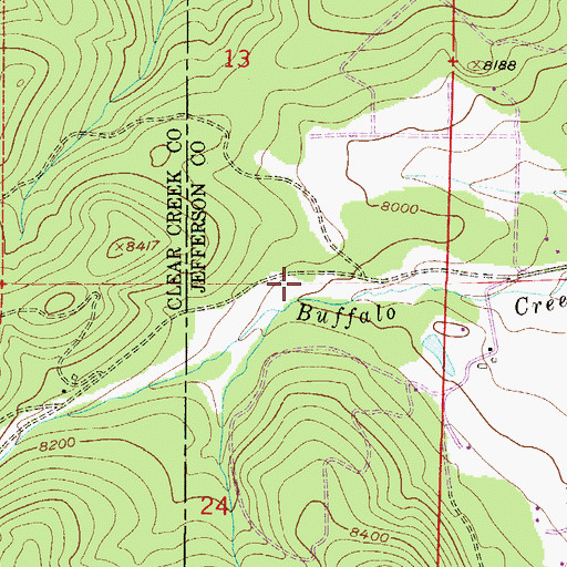 Topographic Map of Ludlow Flower Ditch, CO