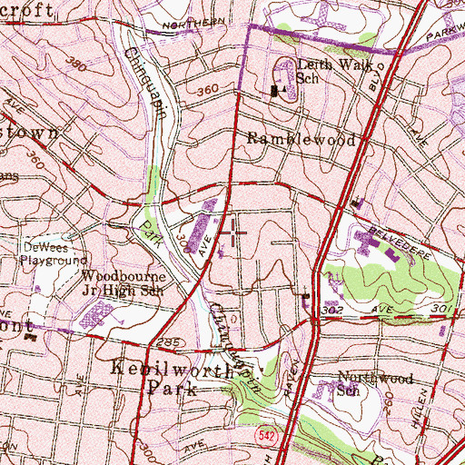 Topographic Map of Greater Church of The Risen Savior and Ministries, MD