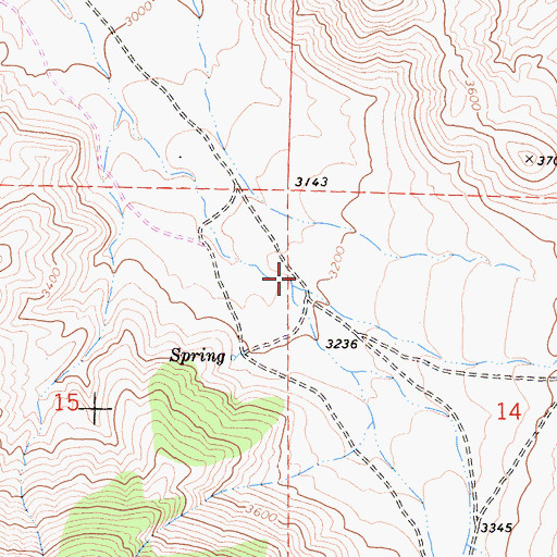 Topographic Map of Scodie Canyon, CA