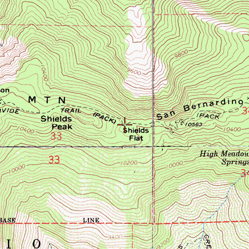 Topographic Map of Shields Flat, CA