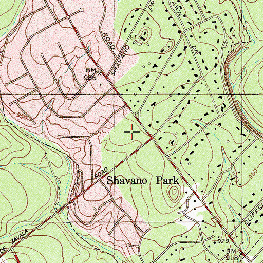 Topographic Map of Shavano Park Police Department, TX