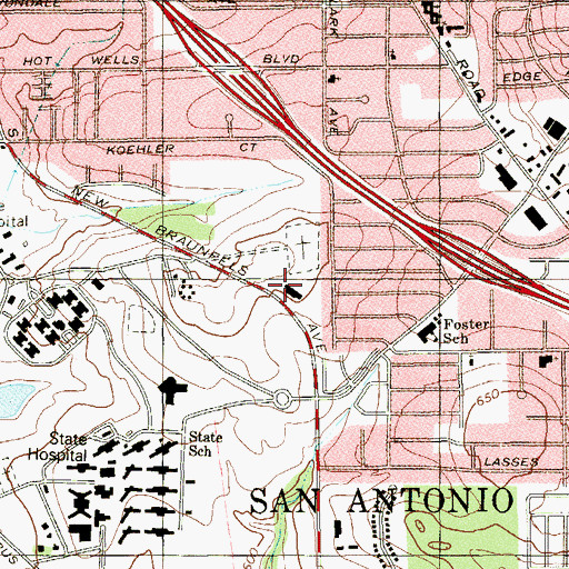 Topographic Map of Texas Highway Patrol Office, TX
