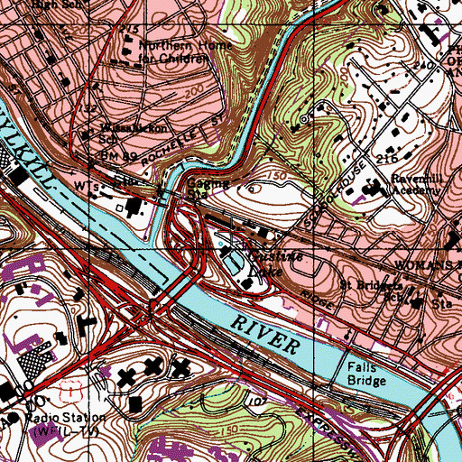 Topographic Map of Gustine Lake Recreation Center, PA