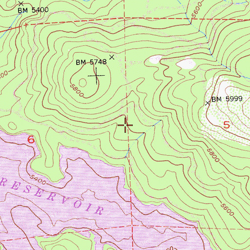 Topographic Map of Cal Aggie Camp, CA