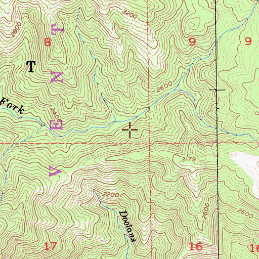 Topographic Map of Tin House Campground, CA