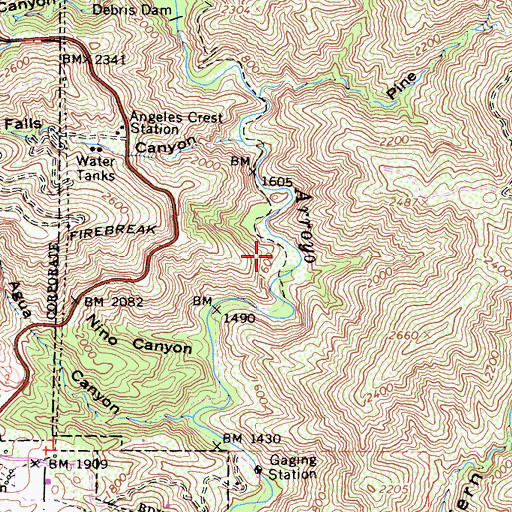 Topographic Map of Paul Little Picnic Area, CA